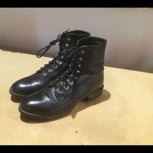 Ariat Black Leather Boots FIRM